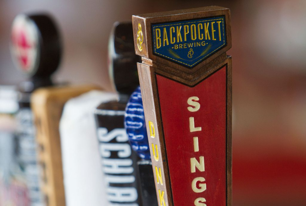 The Backpocket Brewing Company has a selection of beers they create on tap Thursday, Sept. 6, 2012 in Coralville.  (Brian Ray/The Gazette-KCRG)